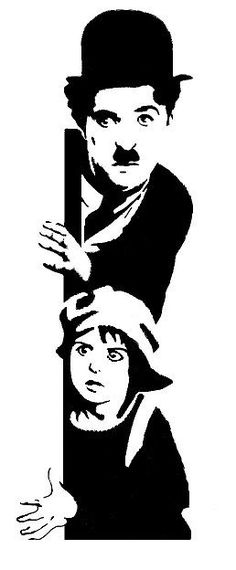 Up for grabs ,high detail airbrush stencil, one part, charlie chaplin, solvent proof transparency film. Charlie Chaplin, Foto Transfer, Arte Tribal, Stencil Art, Stenciling, Silhouette Art, Arte Pop, Art Drawings Sketches, Pyrography
