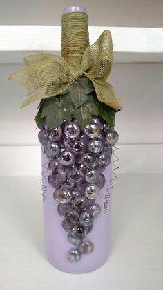 Decoración púrpura uva uva botella púrpura botella morado