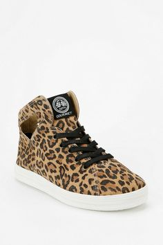Gourmet Uno Cheetah Print Cutout High-Top Sneaker #urbanoutfitters