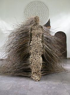 Olga Ziemska made this wild woman from willow branches