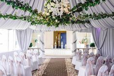 Ceremony room at Friern Manor Essex Wedding by Anesta Broad Photography