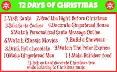 12 Days of Christmas: Family Activities and Traditions