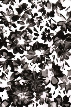 Black and white hand painted pattern, Liza Quinones