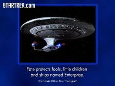 Fate protects fools, little children, and ships named Enterprise. Watch Star Trek, Star Trek Tos, Jj Abrams Movies, Prime Directive, Captain Janeway, Fantasy Love, Ship Names, Little Children, Geek Out