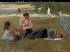 Picnic in the Bois de Boulogne, Paris - Isaac Israels
