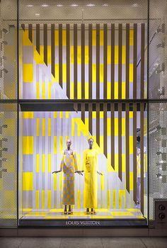 #decorar #escaparates con #rayas