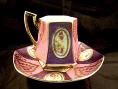 Saji Occupied Japan Fancy China Demitasse Cup and by Cupsofthepast, $23.00
