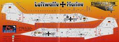 Starfighter Starfighter German Air Force Stencilling decal sheet with only the stencils) Air Force, Stencils, Decals, Aircraft, German, Deutsch, Tags, Aviation, German Language