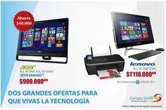 Promociones fin de semana   #Computadores todo en uno #Acer y #Lenovo a los mejores precios y obsequios