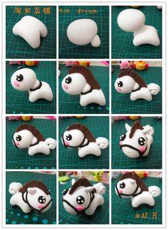 十二生肖の...来自凤凤0914的图片分享-堆糖 Cute Polymer Clay, Polymer Clay Animals, Cute Clay, Polymer Clay Dolls, Polymer Clay Miniatures, Polymer Clay Projects, Polymer Clay Charms, Clay Crafts, Fondant Animals