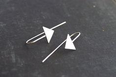 Arrow Hook Earrings Sterling Silver by SDMarieJewelry on Etsy