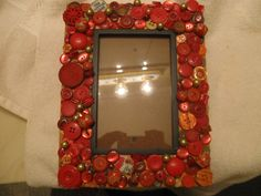 Picture Frame Decor, Cast Off, Red Kitchen, Touch Of Gold, Game Pieces, Cover Pics, Vintage Buttons, Covered Buttons, Etsy Store