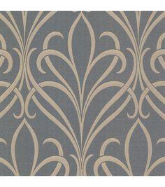 Lalique Silver Nouveau Damask Wallpaper