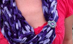 jewelry made from scarves - Google Search