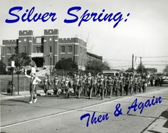 Silver Spring - Montgomery Blair High School Marching Band. I am in the saxophone row.  Saw Bo Diddly in the S.S. armory shown behind