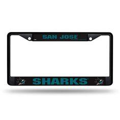 San Jose Sharks Black License Plate Frame