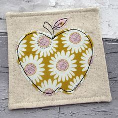 Fabric Coaster - Contemporary Apple Coaster - Thank You Gift £5.50