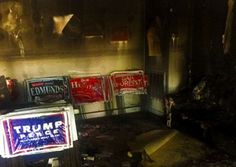 LIBERALS ARE RAGING OUT OF CONTROL: The liberal Left has stepped up their attack on Donald Trump by throwing a Molotov cocktails through the window of the Orange County Republican Headquarters in North Carolina. The same people who brought you the Clinton Dead Pool have no qualms of any kind about employing murder, mayhem and destruction to stop Donald Trump. None at all. http://www.nowtheendbegins.com/begins-democrats-firebomb-republican-headquarters-orange-county-north-carolina/