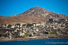 One thing we liked about the famed party island of Mykonos is its proximity to the sacred island of Delos, which according to Greek mythology was the birthplace of Apollo – the god of light, … Ancient Ruins, Ancient Greece, Delos Greece, Archaeological Site, Greek Islands, Mykonos, Apollo, Places Ive Been, City Photo