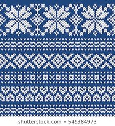 Similar Images, Stock Photos & Vectors of Seamless Fair Isle Knitted Pattern. Festive and Fashionable Sweater Design - 230600785 Ethnic Patterns, Knitting Patterns, Cross Stitch Charts, Cross Stitch Patterns, Fair Isle Chart, Swedish Embroidery, Bead Crochet Rope, Fair Isle Knitting, Loom Weaving