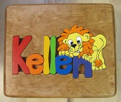 Handcrafted Personalized Puzzle Stools with by LegacyCraftsABC, $80.00