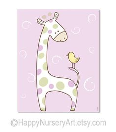 Stampa per bambine scuola materna rosa di HappyNurseryArt su Etsy