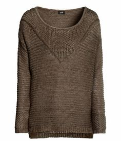 knit sweater in taupe