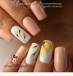 Nail art is a very popular trend these days and every woman you meet seems to have beautiful nails. It used to be that women would just go get a manicure or pedicure to get their nails trimmed and shaped with just a few coats of plain nail polish. Manicure Nail Designs, Nail Manicure, Toe Nails, Nail Art Designs, Manicures, Nail Polish, Super Nails, Flower Nails, French Nails