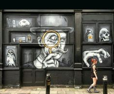 Street Art by Zabou, located in London, UK