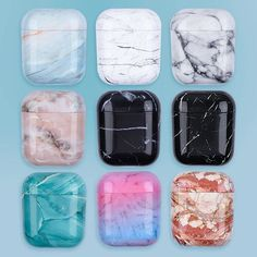 Luxury Marble Pattern Earphone Case For Airpods 1 2 Pro Hard PC Case Cover Charging Box Shell For AirPods 1 2 3 Protective Cover – Electronics & Consumer Cute Ipod Cases, Pc Cases, Iphone Cases, Iphone 5c, Zoom Iphone, Apple Airpods 2, Accessoires Iphone, Earphone Case, Marble Case