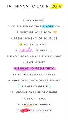 16 things to do in 2016 - Fat Mum Slim