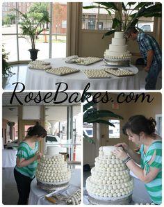 How to Make a Cake Ball Wedding Cake | http://rosebakes.com