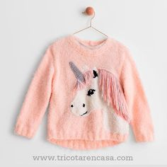 Modèles Tricot & Crochet Enfant - Patrons Tricot Fille et Garçon Modèle Pull Ambre Kids Knitting Patterns, Kids Patterns, Knitting For Kids, Knitting Designs, Free Knitting, Crochet Patterns, Knitting For Beginners, Blanket Patterns, Baby Girl Crochet Blanket