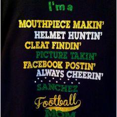 Football mom shirt from www.facebook.com/blingnsports.