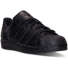 adidas Women's Superstar Casual Sneakers from Finish Line ($80) ❤ liked on Polyvore featuring shoes, sneakers, adidas trainers, rubber shoes, adidas, low top and adidas sneakers