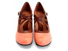 gorgeous fluevogs in coral