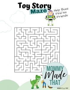 Printable Mazes, Printable Activities For Kids, Preschool Activities, Free Printable, Printables, Toy Story Game, Toy Story Party, Toy Story Birthday, Physical Education Games