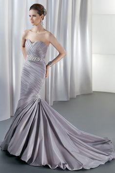 $$$ - $1501 to $3000 STYLE GR226 Strapless, taffeta, fit and flare with a corset back