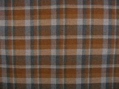 Plaid Wool Fabric Burnt Orange Rust Gray Off White 55 inches wide X 64 inches long Fall Autumn Winter Colors Suiting Weight. $9.00, via Etsy.