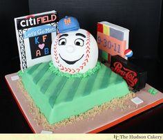 Mr Met Grooms Cake