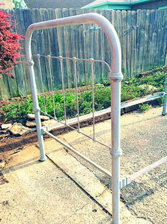 Antique Cast Iron Twin Bed Frame by HUEisit on Etsy, $450.00