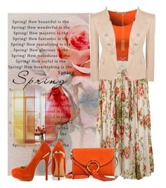 """""""Orange Contest."""" by julidrops on Polyvore featuring Gucci, Balmain, Chloé, Tory Burch and ShoeMint"""