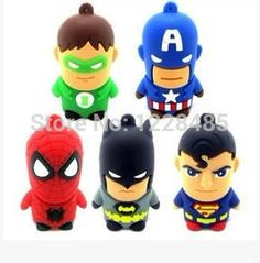 USB stick  superman spider-man batman USB Flash Drive 2GB-32GB USB Disk pen drive USB 2.0  memory stickS23