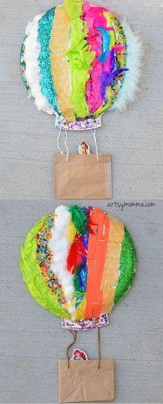 Textured Hot Air Balloon Sensory Craft - fun craft idea for kids!