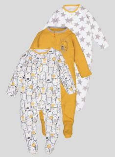 4baeb9346c8 John Lewis   Partners Baby Bear GOTS Organic Cotton Sleepsuit
