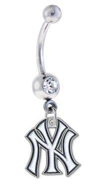 Sports Body Jewelry - New York Yankees MLB Belly Ring, $12.99 (http://www.sportsteambodyjewelry.com/new-york-yankees-belly-ring/)