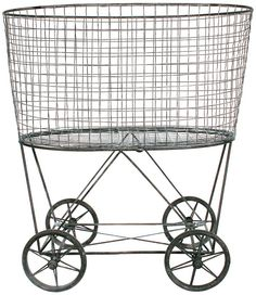 I NEED this Vintage Laundry Basket in my laundry! It might actually make the daunting task of doing the laundry a little bit more fun and easy on the eyes {afflink}