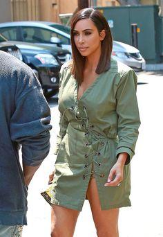 Pin for Later: Kim Kardashian's Unexpectedly Edgy Haircut Was Actually a Wig