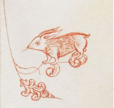 Medieval Rabbit Marginalia -- Pentateuch (the 'Duke of Sussex's Italian Pentateuch') Italy, Central (Florence), 1441-1467