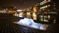 "mashable: "" Glass figure on streets captures the invisibility of homeless people…"